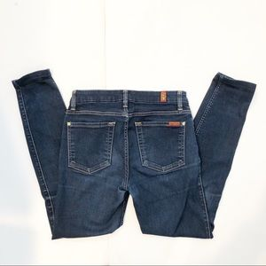 7 For All Mankind High Waist Skinny Blue Jeans 27